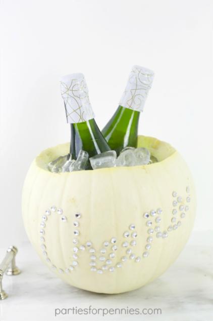 DIY citrouille seau à champagne