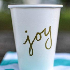 DIY cup écriture
