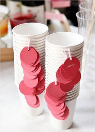 DIY Cup Etiquettes