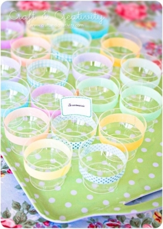 DIY cup washi tape