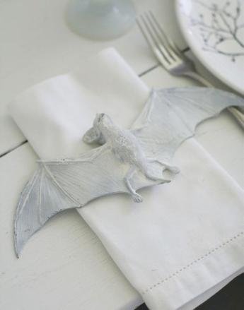 White Halloween bat