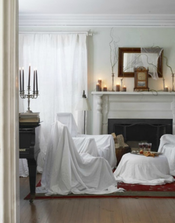 White Halloween room