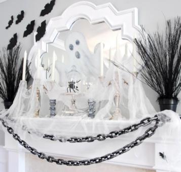 white halloween decor