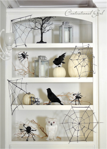 white halloween decor